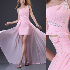 Elegant Lady Formal Evening Long Gown Party Prom Ball Bridesmaid high-low Dress