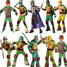 NEW Kids TMNT Fancy Dress Costume Mask Outfit Kids Teenage Mutant Ninja Turtles
