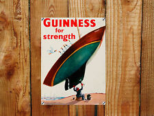 Guinness Metal Sign , Retro Advertising Plaque , Pub Beer Bar Sign