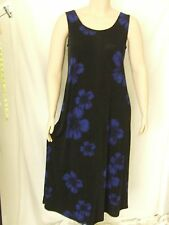 Travel-Knit Dress, Long A-Line Tank,  NEW, stretchy wash&wear poly/span #067