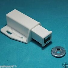1x contemporary white magnetic catch latch cabinet kitchen door push to open