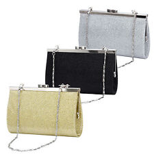 Ladies Evening Clutch Bag Bridal Clutch Womens Silver Clutch Purse Gold Black