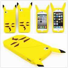 Pokemon Pikachu Soft Silicone Case For iPhone 4 4S 5 5S 6 Plus Samsung S5 Note3