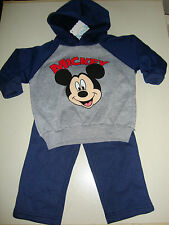 DISNEY MICKEY MOUSE SWEAT STYLED HOODIE JACKET & PANTS NWTS