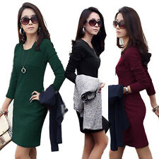 Hot Sexy Women's Dress Tunic Sexy Round Neck Slim Cocktail Causal Dresses New