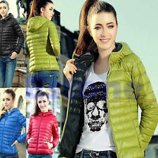 New Women Winter Warm Candy Color Thin Slim Down Coat Jacket Overcoat Parka