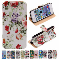 NEW CHEAP~12 Style Unique Stand Flip Protector Case Cover For Apple iPhone 5/5S