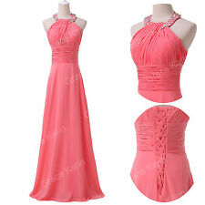 Sales~Long Noble Formal Evening Gown Dress Party Prom Banquet Dresses Size 6-20