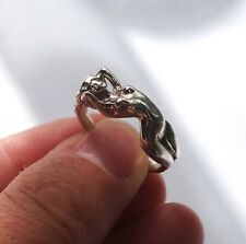Erotic nude girl sterling silver ring, Adult naked lady ring, Nude woman ring