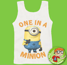 Despicable Me Vest One in a Minion Mens Womens Fast Postage VEST