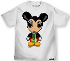 Enemy Of The State Mens Gas Mask Tee Mickey Disney Street Urban Wear Weed Bong