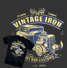 Hot Rod Customs T-Shirt Vintage Iron Classic US V8 Chevy Rat Nissan VW Gr.S-XL
