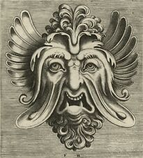 "Frans Huys: ""Mask with Sagging Cheeks, Two Sharp Teeth"" (1555) — Fine Art Print"