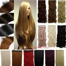 """Longest 17-27"""" 3/4 Full Head One Piece Clip in Hair Extensions USA colorfull"""