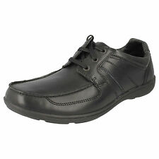 MENS CLARKS LACE UP FORMAL LEATHER SHOES IN BLACK - STYLE BRADLEY STAR