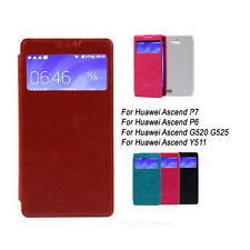 For Huawei Ascend P7 P6 G520 G525 Y511 PU Leather Case Cover Soft TPU Fashion