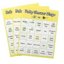24 CARDS BABY SHOWER BINGO BOY GIRL MOM DECORATION PARTY SUPPLY FAVORS GAMES