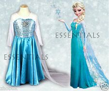 Girls Frozen Queen Princess Elsa Anna costume party dresses Age 3,4,5,6,7 Years