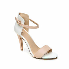 Feellib Women's Ankle Strap Heels With Contemporary Color Block Detailing