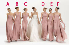 Six Style Bridesmaid Dress Long Prom Evening Dress Party Bridal Gown Custom Size