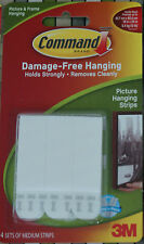 3M Command Strips Medium Picture Hanging 4 sets Damage free