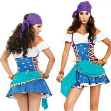 Sexy Gypsy Pirate Halloween Costume Women Masquerade Cosplay  Fancy Dress