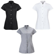 Alexandra Womens Workwear Beauty Top Ladies Button Up Uniform Tunic Size 8-18