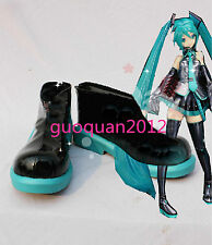 Anime Hatsune Miku Vocaloid Girls lovely cosplay Shoes Custom Made