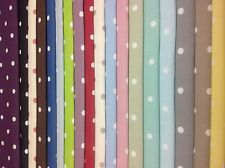 CLARKE and CLARKE,DOTTY Cotton Fabric 18 Colours,Cut Lengths,Curtain/Uphol/Craft