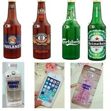 Funny 3D Cute Soft beer Vodka bottle Silicone Phone Case Cover For iPhone 5S 5G