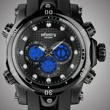 INFANTRY Mens Sport Quartz Digital Analog Chronograph Military Army Wrist Watch