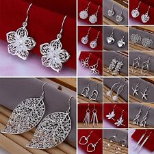 Women's Fashion Jewelry S925 Sterling Silver SP vintage dangle earrings Lots