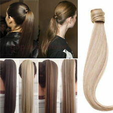 Cheap Price Real Clip In Ponytail Hair Extensions Piece US Fast Dispatch amt8