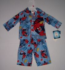 MARVEL SPIDERMAN INFANT BOYS 2 PIECE FLANNEL PAJAMAS PJS SET SIZE 12 MONTHS NWT!