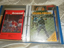 CHELSEA AWAY PROGRAMMES FROM 1977/8 CHOOSE FROM LIST