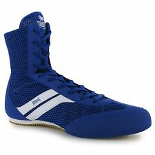 Lonsdale Stealth Mens Boxing Boots Blue/White Fitness Gym Trainers Sneakers