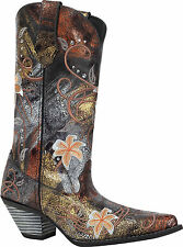Durango Women's Crush Floral Embroidered Western Cowboy Cowgirl Boots RD3030