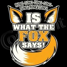 Funny Tank Top Ring A Ding Is What The Fox Says! Music Song Ylvis Dance Video