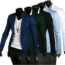 HOT Stylish Men's Casual Slim Fit One Button Business Suit Blazer Coats Jackets
