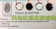 Aluminium Metal Touch ID Home Button Sticker For iPhone 5S Supporting Touch ID