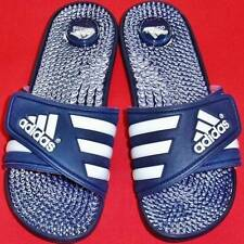 NEW Womens ADIDAS ADISSAGE Blue/White Massaging Slides Flip Flops Sandals Shoe