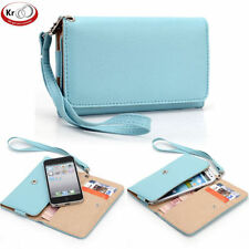 Universal PU Leather Wristlet Wallet w/ Card Holder For Samsung Galaxy S5