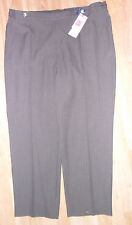 NEW M&S CLASSIC EASY CARE CHOCOLATE BROWN TROUSERS SIZE 12 18 20 SHORT MEDIUM