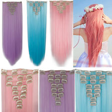 17-26 Inchs 145g Real Thick hair extensions 8 Piece Full head 18 Clips clip in s