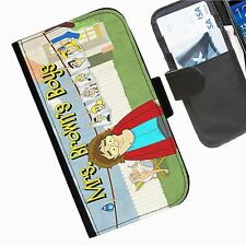 Mrs Browns Boys Leather wallet phone personalised case for Sony Xperia Phone