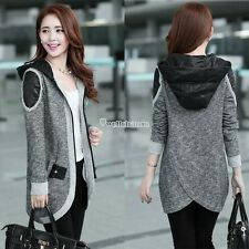 Women Knitwear Fall Winter Hooded Cardigan Coat Swallowtail Sweater Jacket Tops
