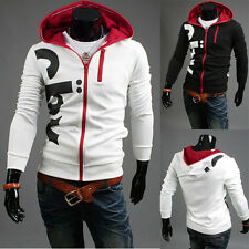 2015 New Sexy Men's Top Designed Slim Fit Hoody Coat Jacket Zip Hoodies Tops