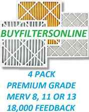 4 PACK MERV 13 PREMIUM QUALITY AIR FILTERS FURNACE AC HIGH AIRFLOW LONG LIFE