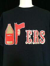 San Francisco 49ERS Fan Black T-Shirt 40oz+9mm Gun+ERS