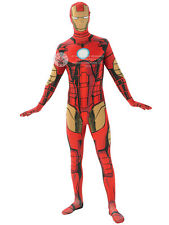 Adult Avengers 2nd Skin Iron Man Fancy Dress Costume Superhero Mens BN